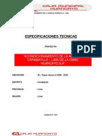 Especificaciones Tecnicas Agencia Carabayllo