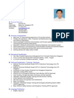 Sample CV resume on Test Department