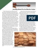 Selecting Guitar Wood