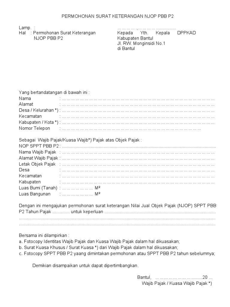 Contoh Surat Permohonan Sk Njop Guru Ilmu Sosial