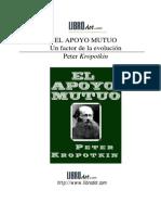 Piotr Kropotkin. El Apoyo Mutuo