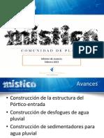 Informe Avance Mistico Febrero 13