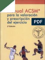Manual ACSM para la valoración y prescripción del ejercicio