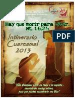 Intinerario Cuaresmal 2013