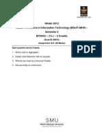 MT0042 Assignment Winter 2012