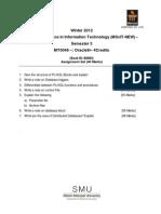 MT0046 Assignment Winter 2012