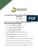 Ten Top Reasons to Remove DeKalb Board of Education