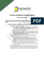 Top Five Violations in SACS Report