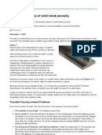 22 Possible Causes of Weld Metal Porosity