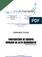 CONSTRUCCIÓN DE EQUIPOS HUMANOS DE ALTO RENDIMIENTO