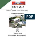 GATE 2013 Information Brochure