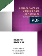 Pemberdayaan Manusia Dan Organisasi