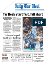 The Daily Tar Heel for February 14, 2013