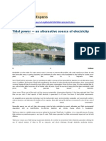 Tidal power — an alternative source of electricity