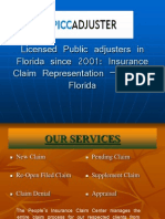 Public Property Insurance Adjusters In Florida