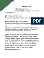 Enumeration of Human Body Parts According to Ayurveda