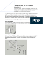 What Does Shape Function Mean in Finite Element Formulation