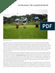 TheEconomic Reform in Myanmar - The Long Road Ahead Long Road Ahead