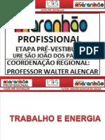 FÍSICA - TRABALHO E ENERGIA