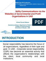 Social Responsibility Communications via the Websites of Governmental and Profit Organizations in UAE