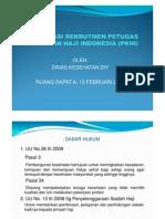 Sosialisasi Rekrutmen Petugas Kesehatan Haji Indonesia (Pkhi