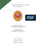 Electronic Barangay Management System of Barangay Poblacion