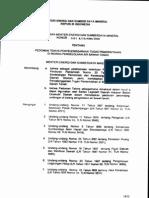 Kepmen ESDM 1451 tahun 2000 tentang Pedoman Teknis Penyelenggaraan Tugas Pemerintahan Bdg Pengelolaan Air Tanah