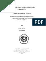 Analisis Air Asam Tambang Batubara