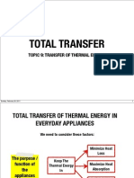 9 Total Transfer of Thermal Energy