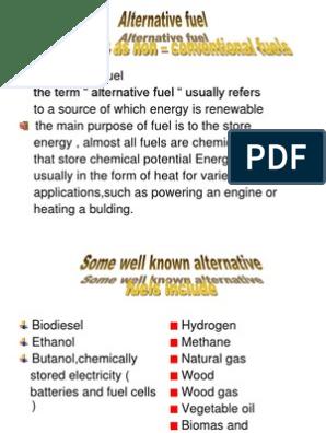 Alternative fuel ppt   Alternative Fuel   Fuels