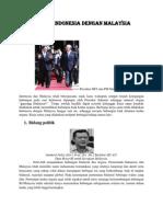 Kerja Sama Indonesia Dengan Malaysia