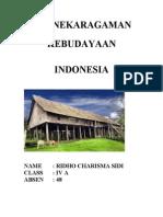 Keanekaragaman Kebudayaan Indonesia