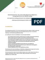 Minderheitenbericht des L.Abg. Andreas Pöder (BürgerUnion), Mitglied des 4. Gesetzgebungsausschusses des Südtiroler Landtages zum so genannten Familiengesetzentwurf