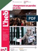Hebdo des socialistes n°683 - Le changement en paroles et en actes