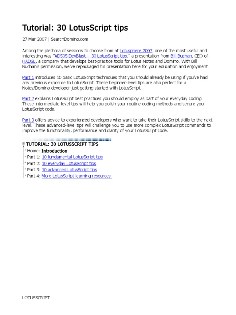 tutorial-30-lotusscript-tips1 | java (programming language