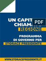 Programma Storace 2013-2018