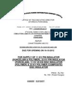TS398 Insulator Standards as Per Chattisgarh Board