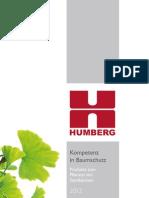 HUMBERG Themenkatalog Kompetenz in Baumschutz 2012
