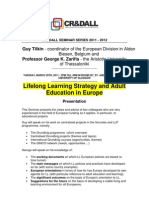 Lifelong Learning Strategy and Adult Education in Europe - CR&DALL-March-2011 0