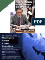 Observatorio Política Exterior Colombiana. Boletín N°4. Issn