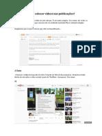 Como colocar vídeos nas publicações