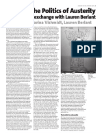 Affect & the Politics of Austerity An interview exchange with Lauren Berlant