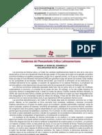 Cuadernos del Pensamiento Crítico Latinoamericano Nº 04 Repensar la teoría del desarrollo, Declaración de Río de Janeiro. Los desafíos de la nueva generación. Globalización, desarrollo y densidad nacional