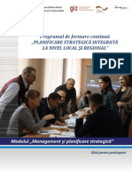 Planificarea strategica integrata la nivel local si regional