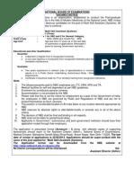 Notification NBE Multi Skill Asst Posts