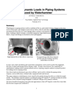 AFT Evaluating Pipe Dynamic Loads Caused by Waterhammer
