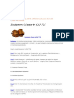 Equipment Master in SAP PM