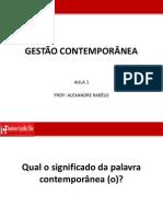 GESTÃO CONTEMPORÂNEAaula1