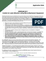Credits for Leak Detection using Murco/Bacharach Equipment