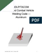 ~Udlp-tacom Welding Code, Almn (Ansi-Aws d1.2)